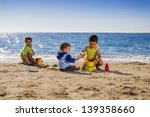 group of children playing with...