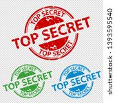rubber stamp seal top secret  ... | Shutterstock .eps vector #1393595540
