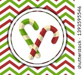 striped christmas candy canes   ... | Shutterstock .eps vector #1393595546