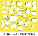 set of speech bubbles. vector... | Shutterstock .eps vector #1393597046