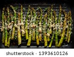grilled green asparagus with...   Shutterstock . vector #1393610126