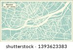 nantes france city map in retro ... | Shutterstock . vector #1393623383