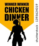 pubg game. silhouette of a... | Shutterstock .eps vector #1393624019