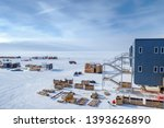 View from one end of American Amundsen-Scott South Pole Station in Antarctica