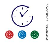 blue clock with arrow icon... | Shutterstock .eps vector #1393630973