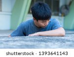 sorrow man staying alone and... | Shutterstock . vector #1393641143