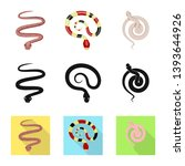 vector design of mammal and... | Shutterstock .eps vector #1393644926