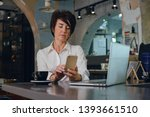 forty years old business woman... | Shutterstock . vector #1393661510