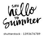 brush lettering composition.... | Shutterstock .eps vector #1393676789