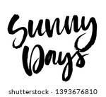 summer brush lettering... | Shutterstock .eps vector #1393676810