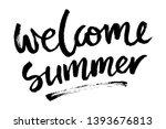 brush lettering composition.... | Shutterstock .eps vector #1393676813