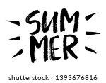 summer brush lettering... | Shutterstock .eps vector #1393676816