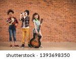 band of little musicians...   Shutterstock . vector #1393698350
