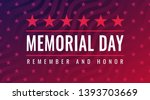 memorial day   remember and... | Shutterstock .eps vector #1393703669
