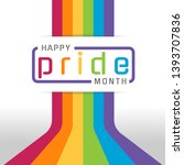 happy pride month banner with... | Shutterstock .eps vector #1393707836