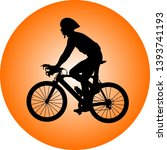 professional cyclist with... | Shutterstock .eps vector #1393741193