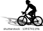 professional cyclist with... | Shutterstock .eps vector #1393741196