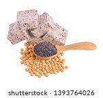 tofu and sesame isolated on... | Shutterstock . vector #1393764026