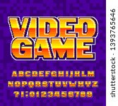 video game alphabet font.... | Shutterstock .eps vector #1393765646