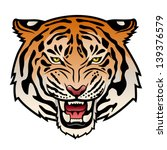 roaring tiger's head isolated... | Shutterstock .eps vector #139376579