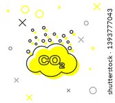 grey co2 emissions in cloud... | Shutterstock .eps vector #1393777043