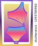bright bathing suit on an... | Shutterstock . vector #1393785983