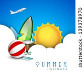summer holidays background. | Shutterstock .eps vector #139378970