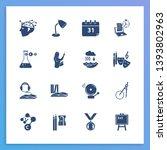 school icon set and teacher...
