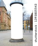 advertising pillar in a city... | Shutterstock . vector #1393805543