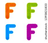 Set Of Colourful Fur Letters F...