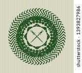 green crossed swords icon... | Shutterstock .eps vector #1393827986