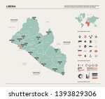 vector map of liberia. high... | Shutterstock .eps vector #1393829306