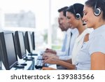 call centre workers working in... | Shutterstock . vector #139383566