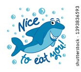 hello  nice to  m eat you '... | Shutterstock .eps vector #1393836593