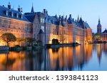 reflections of the binnenhof ... | Shutterstock . vector #1393841123