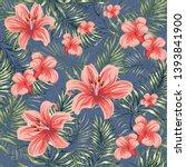 blooming spring summer flowers... | Shutterstock .eps vector #1393841900