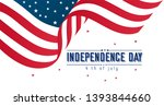 happy 4th of july usa... | Shutterstock .eps vector #1393844660