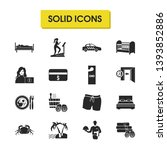 tourism icons set with checkout ...