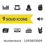 melody icons set with cassette  ... | Shutterstock .eps vector #1393853009