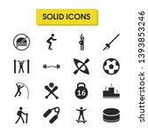 exercise icons set with kayak ...