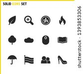 mixed icons set with cloud ...