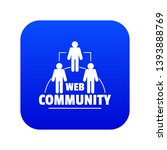 web community icon blue vector...