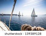 Boats In Sailing Regatta.