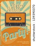 vintage party poster | Shutterstock .eps vector #139390370