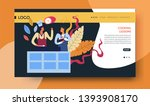 online video course cooking... | Shutterstock .eps vector #1393908170
