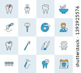 enamel icons colored line set... | Shutterstock .eps vector #1393925576
