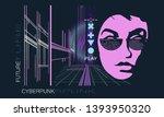 cyberpunk. dark future art.... | Shutterstock .eps vector #1393950320