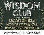 font script typeface vector... | Shutterstock .eps vector #1393955306