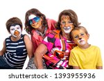 children's group and... | Shutterstock . vector #1393955936