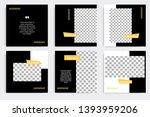 six set editable minimal square ... | Shutterstock .eps vector #1393959206